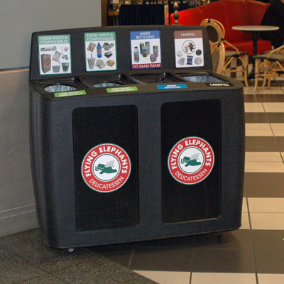 GreenDrop Recycling and Composting Station at Elephants Delicatessen