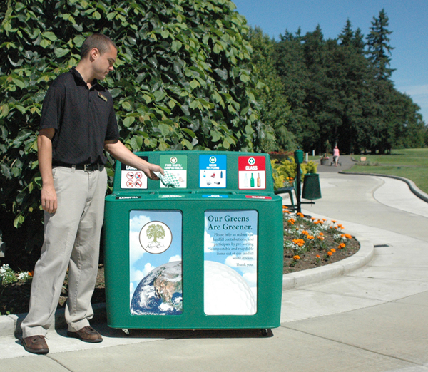 GreenDrop Recycling Station at Royal Oaks Country Club
